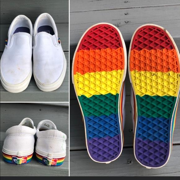 Vans Shoes | Vans Slip On Rainbow